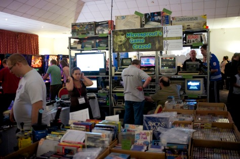 Retro goodies sprouting in the arcade hall at REVIVAL 2014