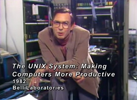 From 'The UNIX System', 1982 (Courtesy AT&T Archives)