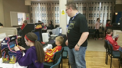 Youngsters go old-skool gaming under the watchful eye of Craig Turner
