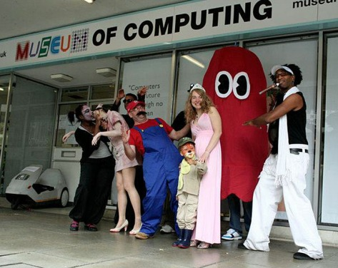 """The Museum of Computing's volunteers are always """"game"""" for a laugh (pic Museum of Computing)"""