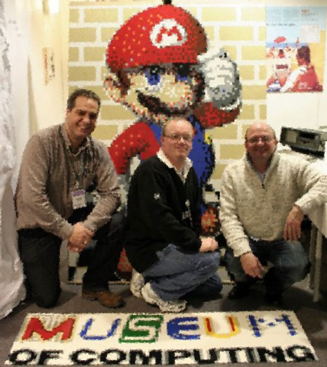Museum of Computing volunteers get up close and pixellated with Mario (pic Museum of Computing)