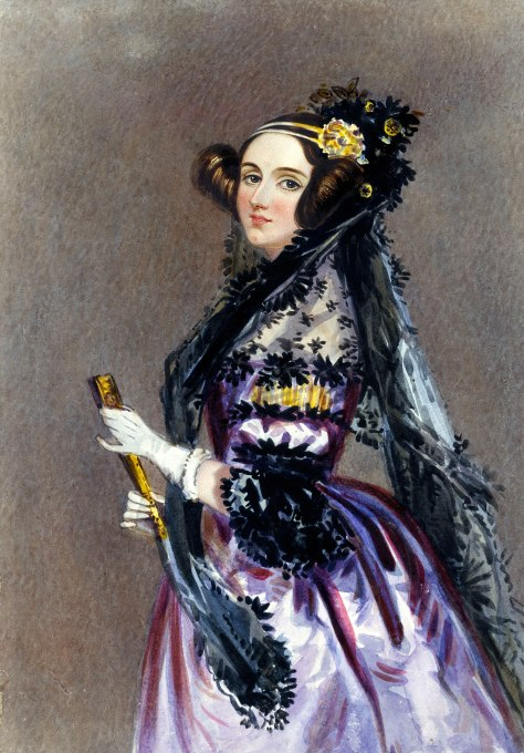 Watercolor portrait of Ada King, Countess of Lovelace (Ada Lovelace), 1840