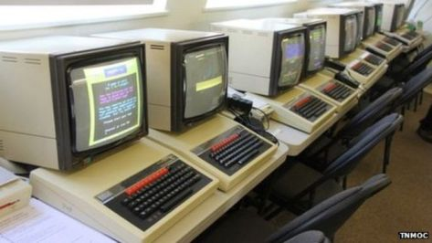 The Beebs wait patiently for eager hands... (pic TNMOC)