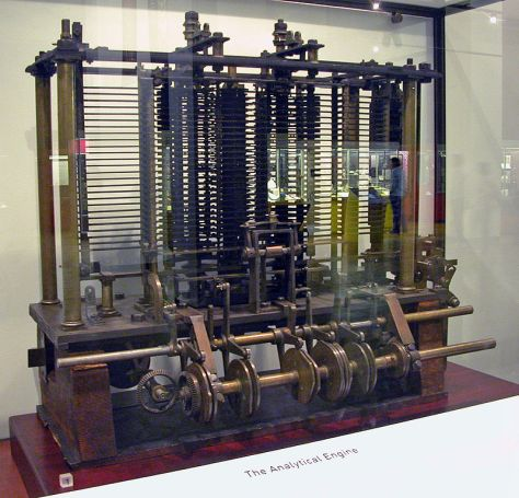 Trial model of a part of the Analytical Engine, built by Babbage, as displayed at the London Science Museum (pic Bruno Barral/Wikipedia)