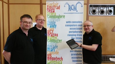 Andy Spencer (right) and his Retro Computer Museum team brought a critical mass of historic home computers and consoles to Recursion 2015