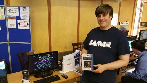 Anthony Bartram of Amcog Games was promoting his new release on Risc OS, 'Overlord'
