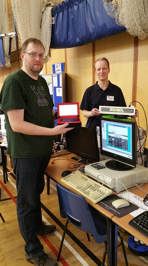 Bryan Hogan (right) and colleague from the Risc OS User Group of London (ROUGOL)