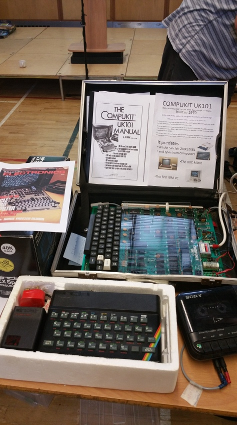 Early British home computers the Compukit UK101 and Sinclair ZX Spectrum 48k