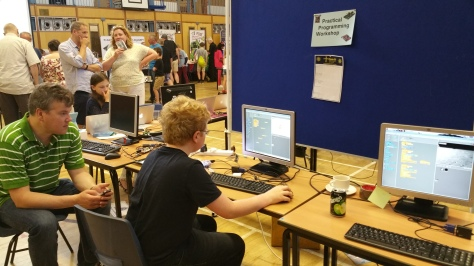 Practical Programming Workshop using Scratch in the King Edward Vi School's Show in a Show