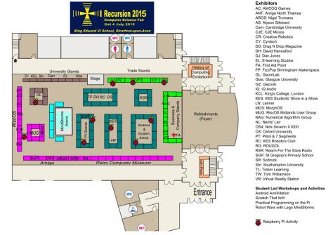 Recursion 2015 floor plan (courtesy Recursion)