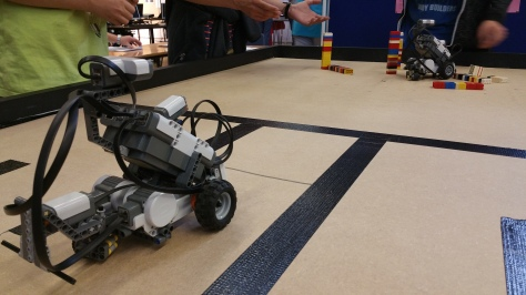 Robots ready to rumble in the Mindstorm Arena