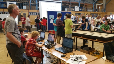 Those are the droids we're looking for - busily building and programming in the Mindstorm Arena