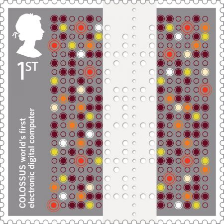 Inventive Britain Colossus Stamp