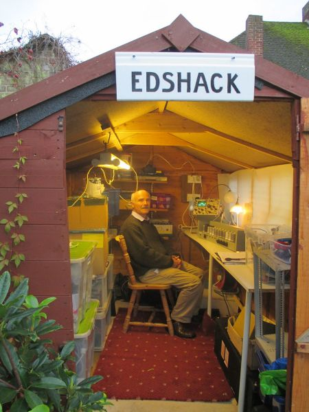 James Barr in the 'Edshack' (pic courtesy TNMOC)