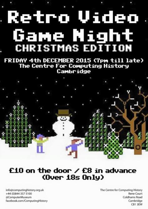 Retro Video Game Night flyer - click to enlarge