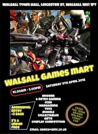 Walsall Games Mart poster