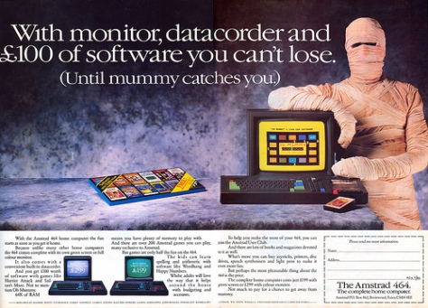 Advert for the Amstrad CPC464, first of the range