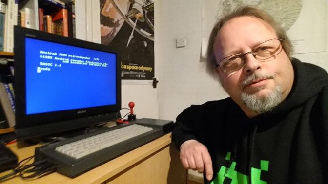Stuart Williams and his Amstrad CPC6128