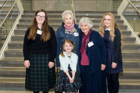 Ada competition winners meet Colossus operators Margaret O'Connell and Irene Dixon (pic TNMOC)