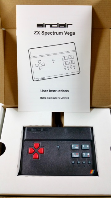 Sinclair ZX Spectrum Vega boxed with instructions