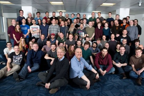 The Codemasters team (pic Codemasters)