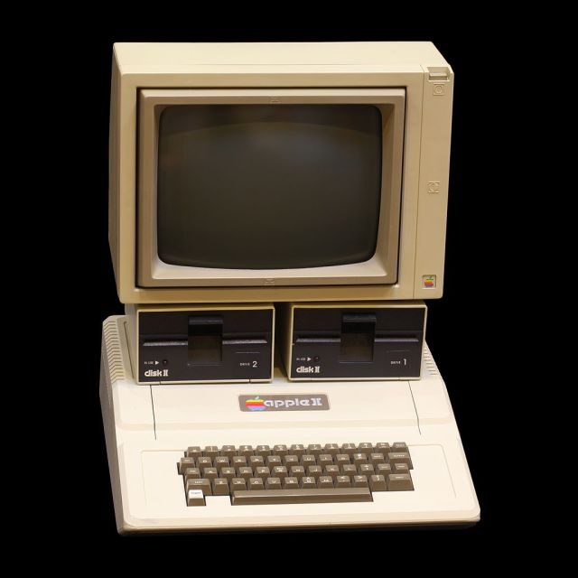 Apple II computer on display at the Musée Bolo, EPFL, Lausanne (pic RAMA, click for info)
