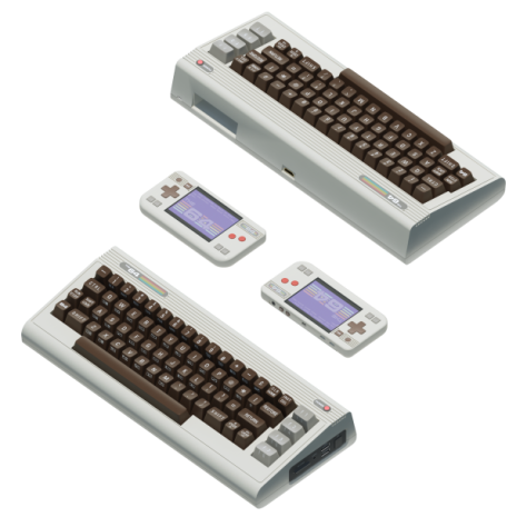 Isometric view of the new kids on the retro block