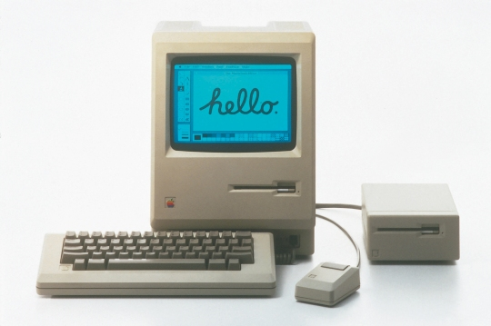 The original Macintosh 128k, affectionately known as the Mac, 1984