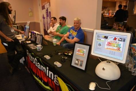 "Jim Bagley chats to the guys from Retro Gaming Roundup who brought a ""mockup"" of the unfortunate Coleco Chameleon..."