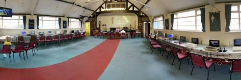 Venue set up for last February's event - click to enlarge