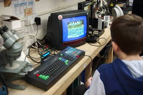 This Amstrad has been updated to modern storage with a DDI3 floppy emulator, complete with LCD display. [Pic Steve Netting]