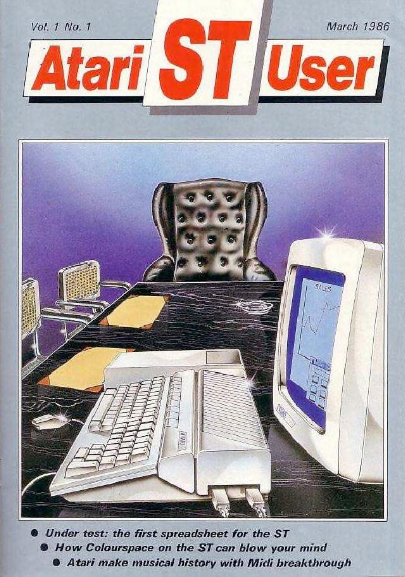 Cover of Atari ST User, March 1986