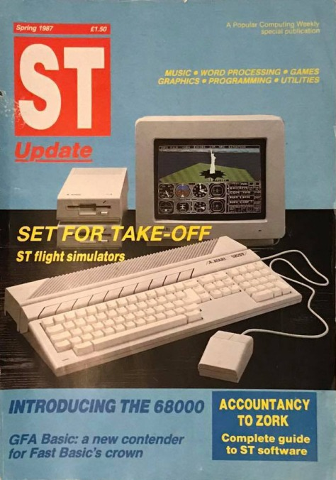 Cover of the launch issue of ST Update, Spring 1987