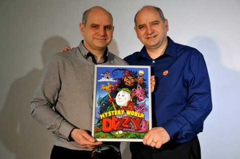 The Oliver Twins with some great new fan art for 'Mystery World Dizzy' by artist Piotr 'PIT' Gratkiewicz