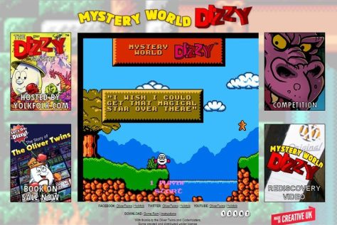 Mystery World Dizzy presentation