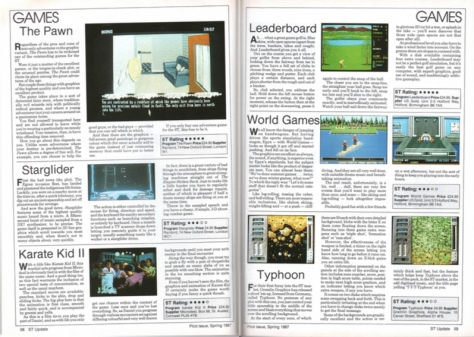 Some of the early games reviews in the 'spring 1987' ST Update